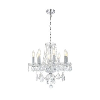 Princeton 8-Light 20 in. Chandelier with Royal Cut Crystals (Available in Chrome and Gold)