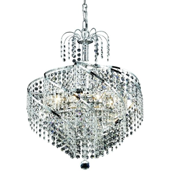 Spiral 8-Light 18 in. Pendant (Available in Chrome and Gold)