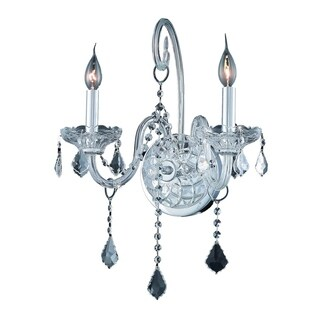 Verona 2-Light 14 in. Wall Sconce (Available in Chrome and Gold)