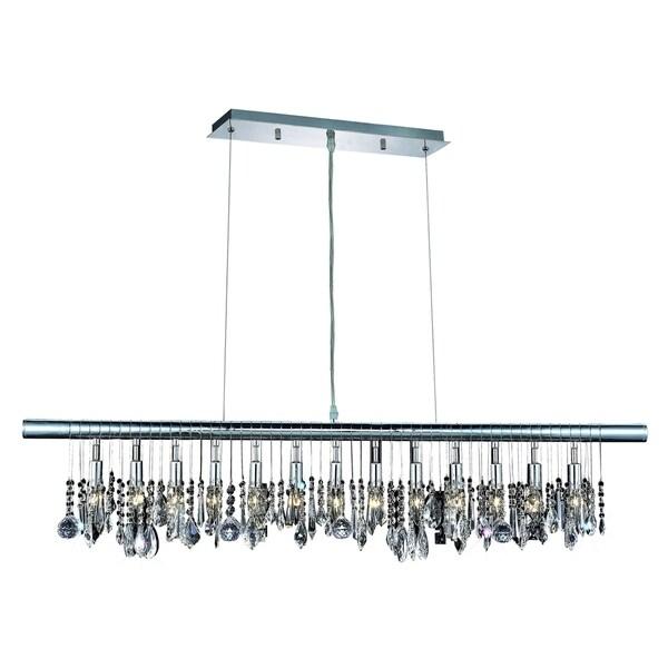 Elegant Lighting Chorus Line Chrome 13-light 48-inch Chandelier with Royal-cut Crystals
