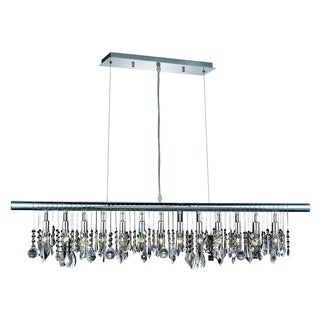 Chorus Line 13-Light 48 in. Chrome Chandelier with Royal Cut Crystals