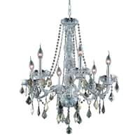 Verona 6-Light 24 in. Chandelier  (Available in Chrome, Golden Teak, Silver Shade)