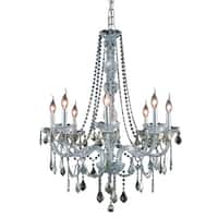 Verona 8-Light 28 in. Chandelier  (Available in Chrome, Golden Teak, Silver Shade)