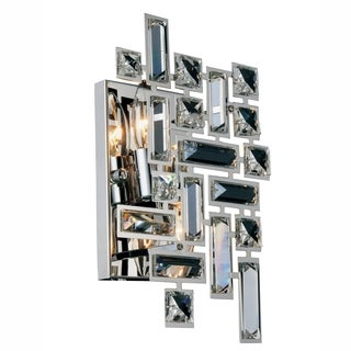 Picasso 2-Light 12 in. Chrome Wall Sconce with Royal Cut Crystals