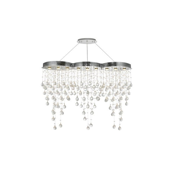 Galaxy 9-Light 48 in. Chrome Chandelier