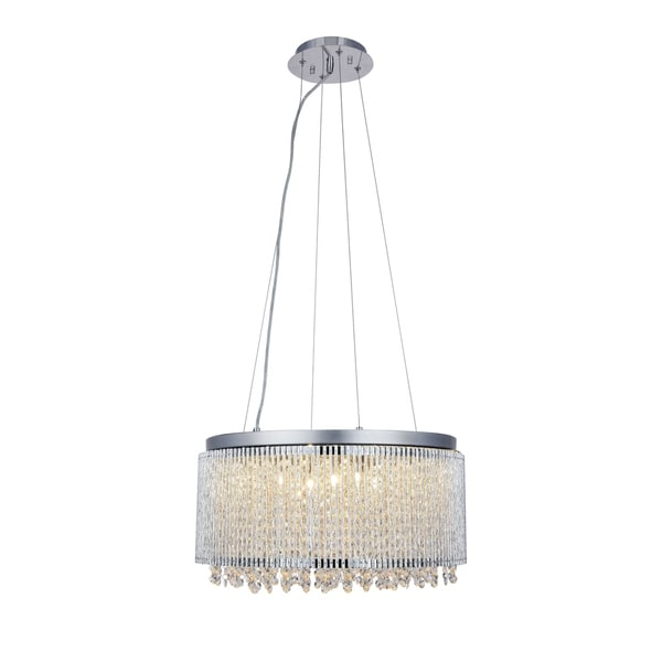 Influx 12-Light 20 in. Chrome Pendant with Royal Cut Crystals