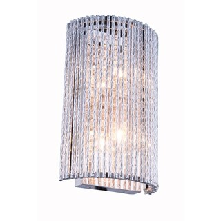 Influx 2-Light 7 in. Chrome Wall Sconce with Royal Cut Crystals