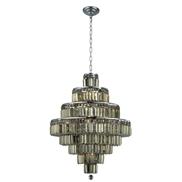 Maxime 18-Light 26 in. Chrome Chandelier (Available with Royal Cut Crystals or Swarovski® Elements Crystals)