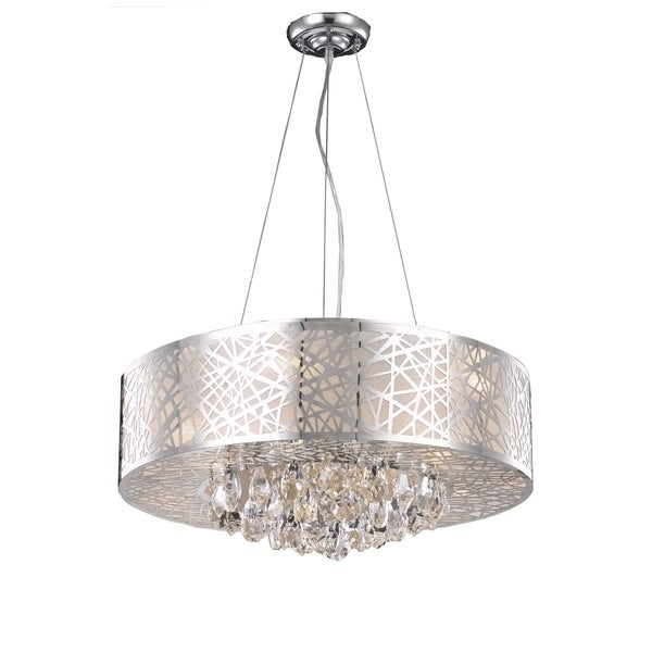 Prism 9-Light 24 in. Chrome Pendant with Royal Cut Crystals