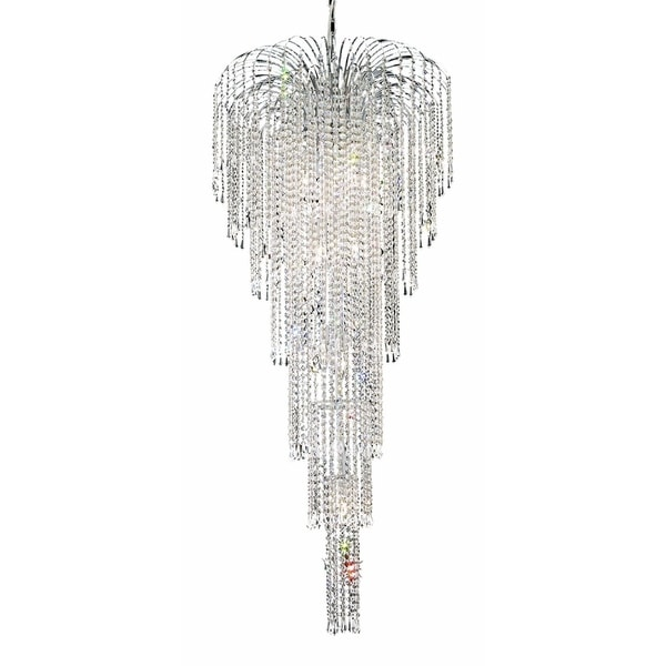 Falls 11-Light 25 in. Chandelier (Available in Chrome and Gold)