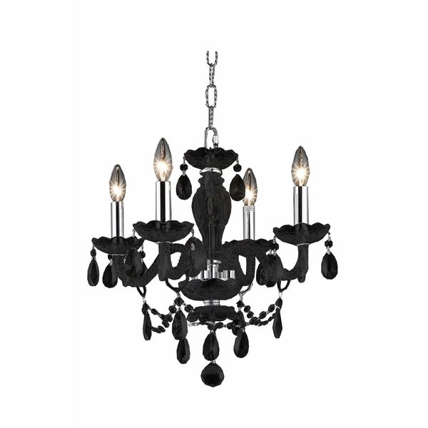 Princeton 4-Light 17 in. Pendant with Royal Cut Crystals (Available in Black and White)