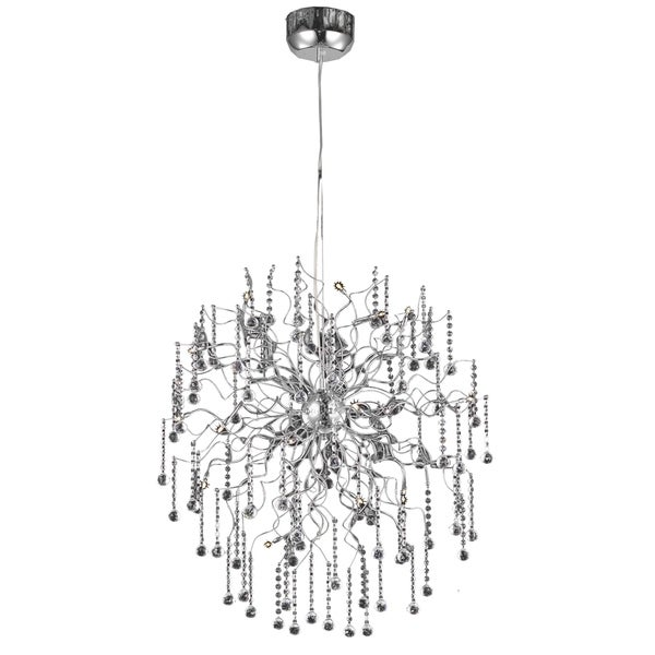 Astro 18-Light 33 in. Chrome Chandelier with Royal Cut Crystals
