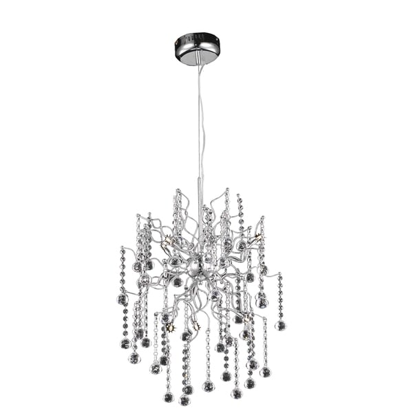 Astro 6-Light 18 in. Chrome Pendant with Royal Cut Crystals