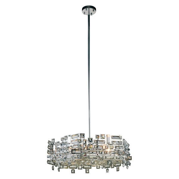 Picasso 6-Light 24 in. Chrome Pendant with Royal Cut Crystals