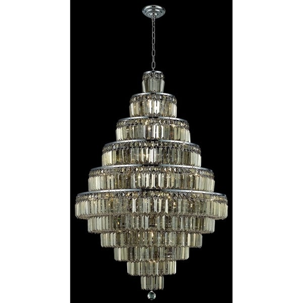 Maxime 30-Light 32 in. Chrome Chandelier (Available with Royal Cut Crystals or Swarovski® Elements Crystals)