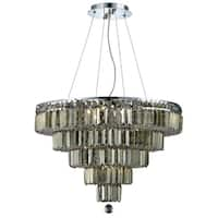 Maxime 14-Light 26 in. Chrome Chandelier (Available with Royal Cut Crystals or Swarovski® Elements Crystals)