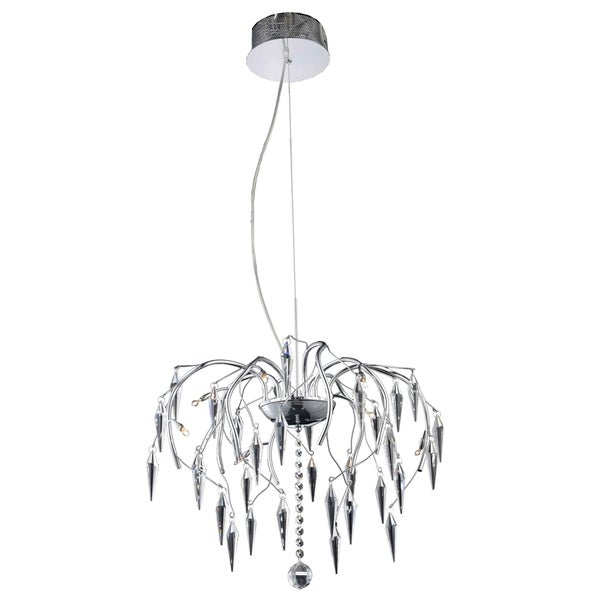 Amour 8-Light 20 in. Chrome Chandelier