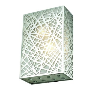 Prism 2-Light 8 in. Chrome Wall Sconce with Royal Cut Crystals