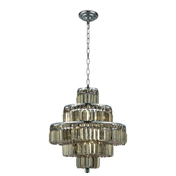 Maxime 13-Light 20 in. Chrome Chandelier (Available with Royal Cut Crystals or Swarovski® Elements Crystals)