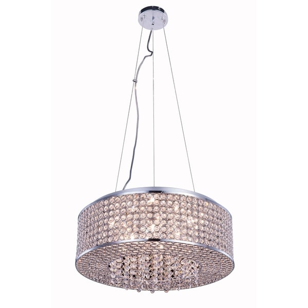 Amelie 8-Light 20 in. Chrome Pendant with Royal Cut Crystals