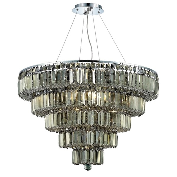 Maxime 17-Light 30 in. Chrome Chandelier (Available with Royal Cut Crystals or Swarovski® Elements Crystals)