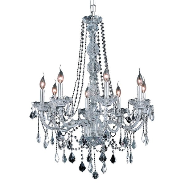 Verona 8-Light 28 in. Chandelier (Available in Chrome and Gold)