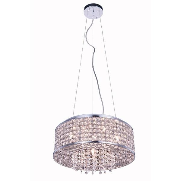 Elegant Lighting Amelie Chrome Iron/Royal-cut Crystal 16-inch 6-light Pendant