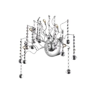 Astro 5-Light 18 in. Chrome Wall Sconce with Royal Cut Crystals