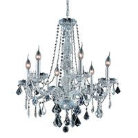 Verona 6-Light 24 in. Chandelier (Available in Chrome and Gold)