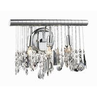 Chorus Line 3-Light 16 in. Chrome Wall Sconce with Royal Cut Crystals