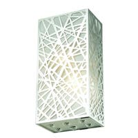 Prism 2-Light 6 in. Chrome Wall Sconce with Royal Cut Crystals