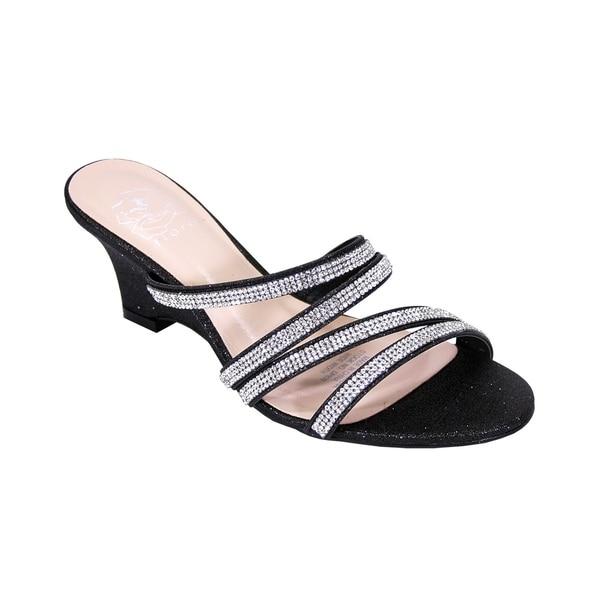 7aa68493c381d5 Shop FLORAL Kelly Women Extra Wide Width Rhinestone Slip-On Wedge ...