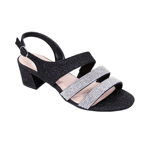 FLORAL Dorothy Women Extra Wide Width Rhinestone Dressy Party Sandals