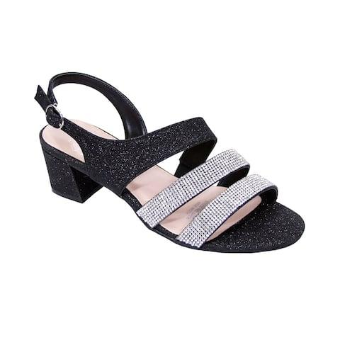da0b6229a1 FLORAL Dorothy Women Extra Wide Width Rhinestone Dressy Party Sandals