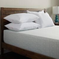 Hanes ComfortSoft AAFA Certified Performance Knit Down Alternative Jumbo Pillows (Set of 4) - White
