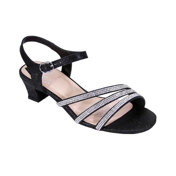 eb8fee7474f Shop FLORAL Jenna Women Extra Wide Width Glittery Rhinestone Straps ...