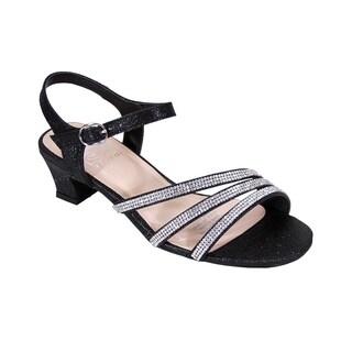 FLORAL Jenna Women Extra Wide Width Glittery Rhinestone Straps Sandals