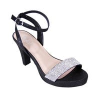 FLORAL Maria Women Extra Wide Width Stunning Rhinestone Party Sandals
