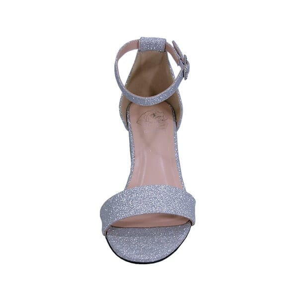 wholesale dealer detailed pictures cheap price Shop FLORAL Adele Women Wide Width Satin Glittery Block Heel Party ...