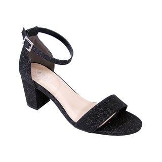 FLORAL Adele Women Wide Width Satin Glittery Block Heel Party Sandals (3 options available)