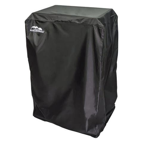 Masterbuilt Black Smoker Cover 54.291 in. H x 38.937 in. W x 21.85 in. D 44 in. Gas Smokers