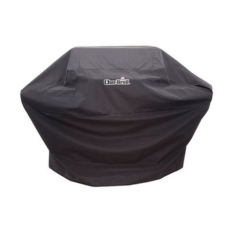 Char-Broil Black Grill Cover 44 in. H x 62 in. W x 25 in. D Performance 3-4 Burner