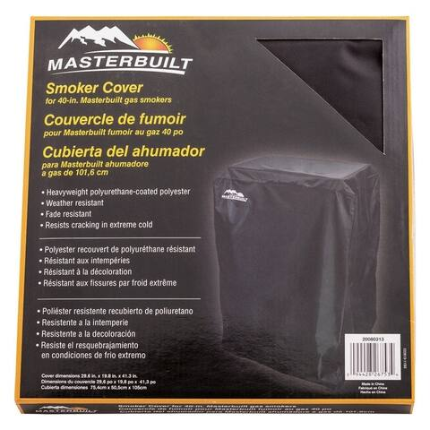 Masterbuilt Black Smoker Cover 29.685 in. D x 19.9 in. W x 41.3 in. H 40 in. Gas Smokers