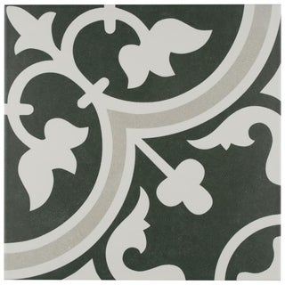 SomerTile 9.75x9.75-inch Art Due Porcelain Floor and Wall Tile (16/Case, 10.76 sqft.)