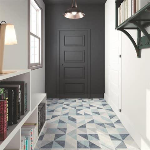 SomerTile 6.5x6.5-inch Buon Melange Blue Porcelain Floor and Wall Tile (20 tiles/6.33 sqft.)