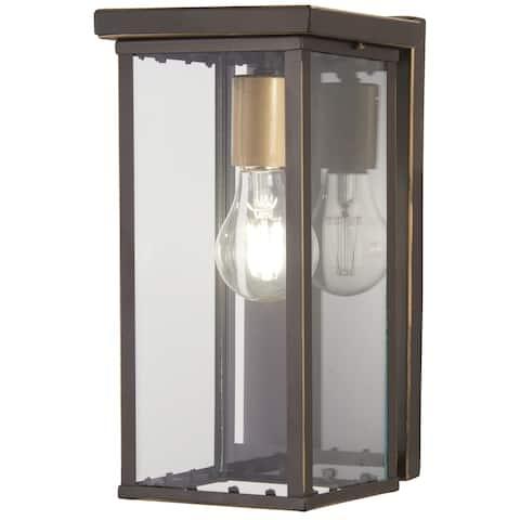 Casway 1-Light Oil Rubbed Bronze W/ Gold High Pocket Lantern