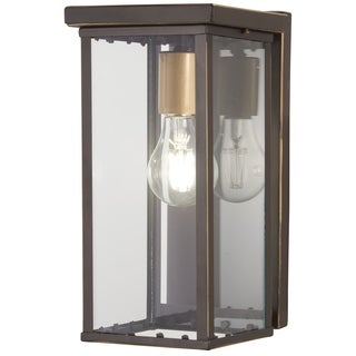 Casway 1-Light Oil Rubbed Bronze W/ Gold High Pocket Lantern