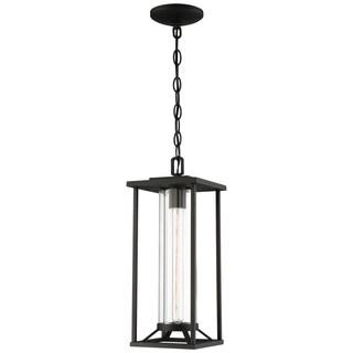 Trescott 1-Light Black Chain Hung Lantern