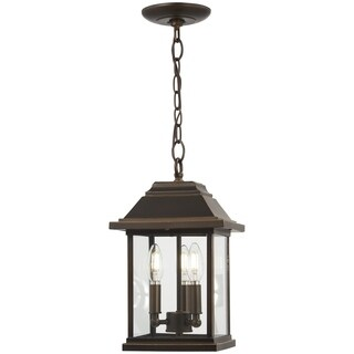 Mariner's Pointe 3-Light Oil Rubbed Bronze Chain Hung Lantern