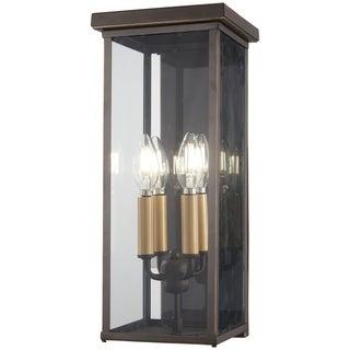 Casway 5-Light Oil Rubbed Bronze W/ Gold High Pocket Lantern